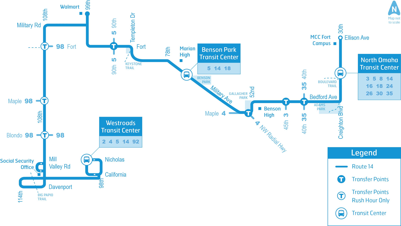 Omaha Metro Route 14