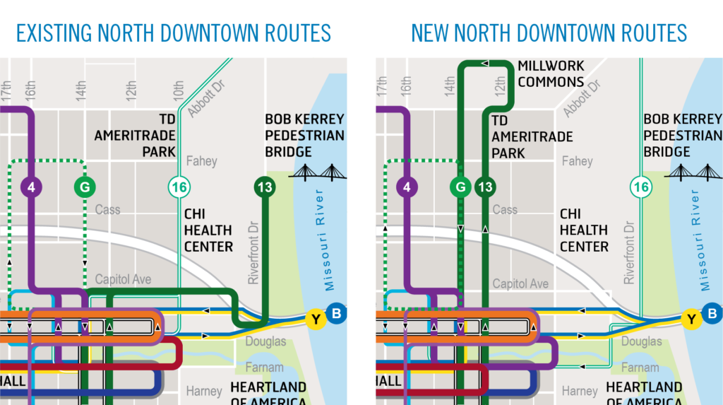 New North Downtown Routes