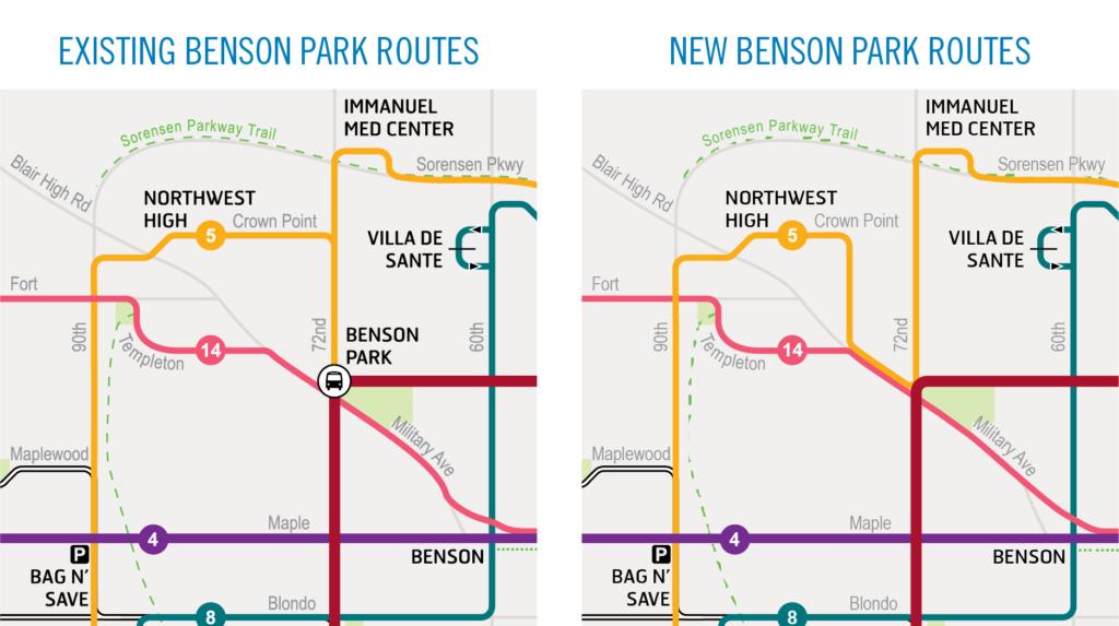 New Benson Park Routes