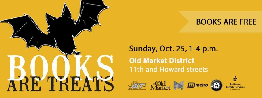 The Books are Treats event will be held Sunday, October 25 from 1 to 4 p.m. in the Old Market District at 11th and Howard.
