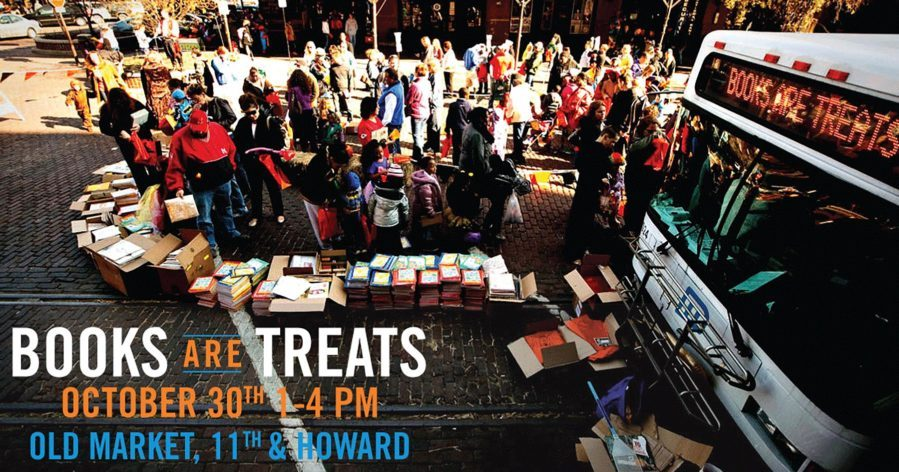 The Books are Treats event will be held October 30 from 1 to 4 p.m. in the Old Market District at 11th and Howard.