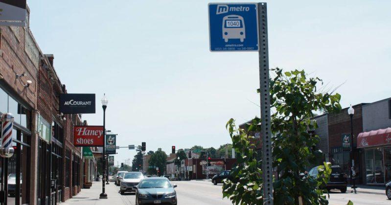 Metro bus stop sign