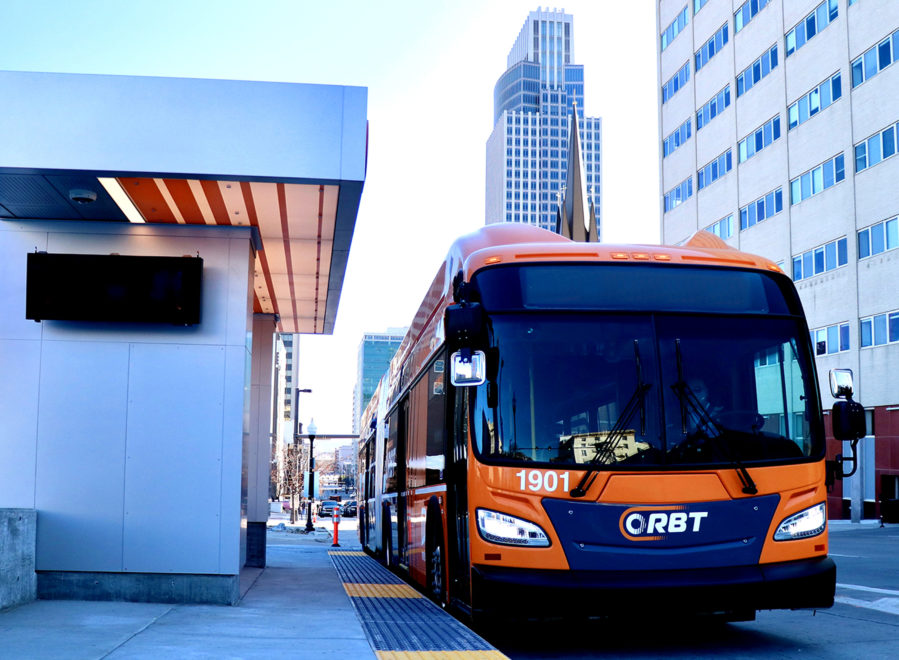 ORBT bus at 20th & Dodge Station