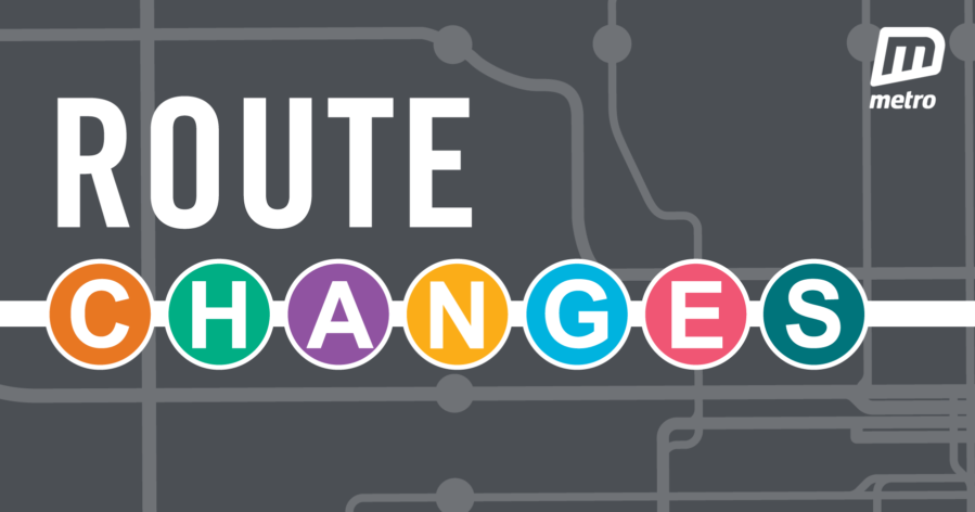 Route changes graphic