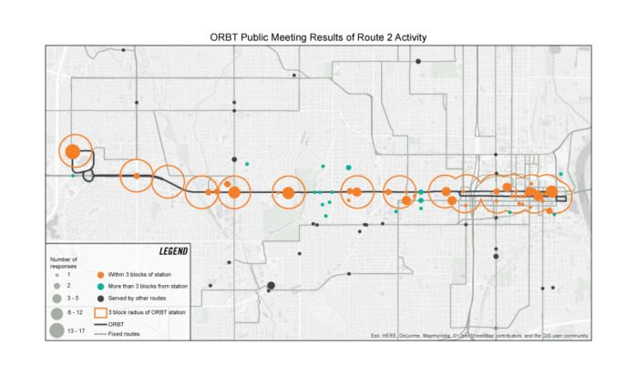 ORBT public meeting results of Route 2 activity