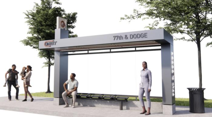 rendering of an ORBT stop